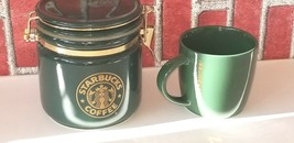 Starbucks Coffee Canister Green Siren Mermaid Logo Bee House Japan 2017 ... - $27.37