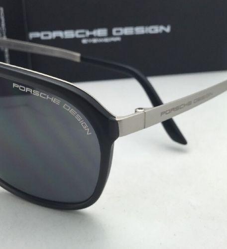 Neu Porsche Design Sonnenbrille P'8618 A P ' 86bf U Grau & Palladium Rahmen mit