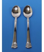VINTAGE CAMBRIDGE CODIE STAINLESS GLOSSY-LOT OF 2 SOUP SPOONS - $5.99