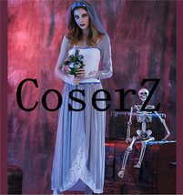 Corpse Bride Costume Scary Skeleton Joker Outfit Cosplay Costume - $99.00