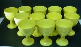 Vintage Fitz & Floyd China Goblet   Yellow set of 12 - $74.25