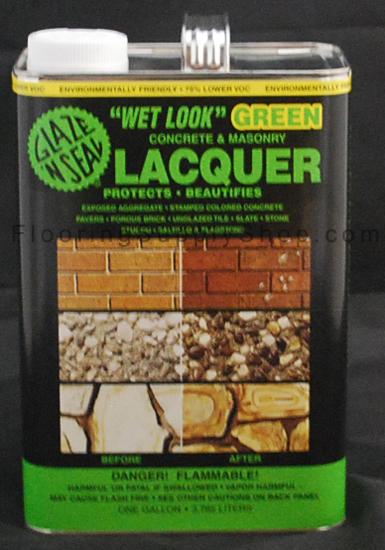 Wet Look Green Lacquer Sealer 1 Gallon