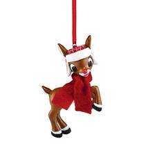Department 56 Rudolph the Red-Nosed Reindeer in Hat and Scarf Hanging Or... - $19.99