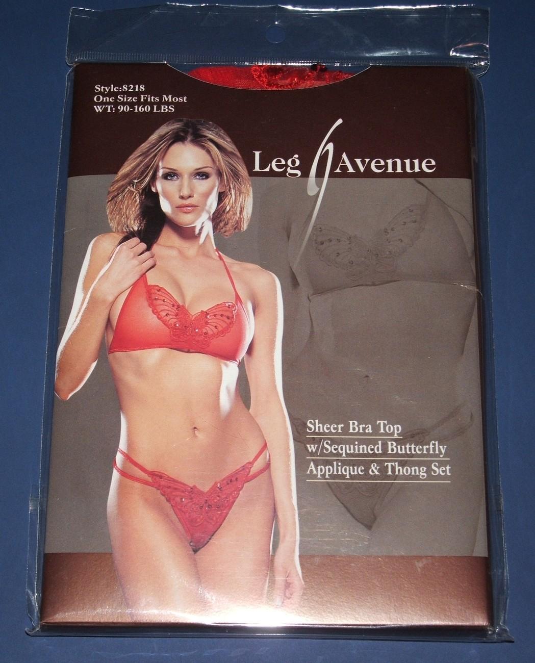 Leg Ave Butterfly Applique Bra & Thong Set  OS  NIP Other