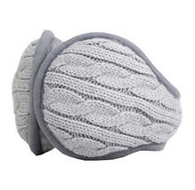 Unisex Foldable Earmuffs Warm Knit Ear Warmers Fleece Winter EarMuffs, Gray - $13.11