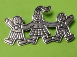 EFS Save the Children - Children Holding Hands Pin/Brooch - 925 Sterling... - $37.19