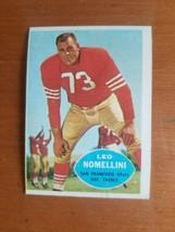1960 Topps Football Card - #121 Leo Nomellini San Francisco 49ers HOF Ta... - $4.95