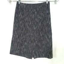 Talbots Pencil Straight Skirt Women Size 4 Black White Career Work Back ... - $16.83