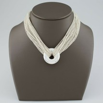 Tiffany & Co. Sterling Silver Multi-Chain Circle Necklace with Toggle Clasp - $475.20