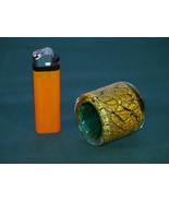 A  Modern Designer, Gold and Viridian Candlesti... - $35.00