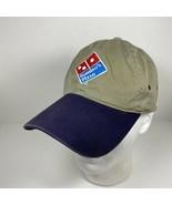 Domino's Pizza Delivery Hat Beige Blue Adjustable Reflective - $19.75
