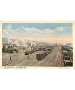 Lehigh Valley Railroad Yards Sayre Pennsylvania Post Card  - $7.00