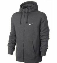 Nike Men's Club Swoosh Full-Zip Hoodie Jacket Dark Gray L 823531-071 - $59.99