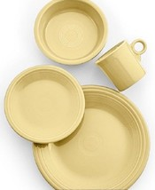 Fiesta 4 Piece Place Setting Ivory Homer Laughlin NEW - $32.99