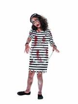 Zombie Convict Girl, Halloween Child Fancy Dress, Medium Age 7-9 #AU - $16.25