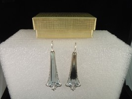 International Admiral Earrings Silverplate 1918 Vintage - $44.54
