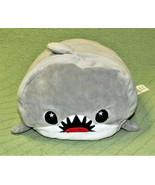 "11"" MOOSH MOOSH SHARK PILLOW PLUSH STUFFED ANIMAL GREY FISH SOFT CUDDLY ... - $16.83"