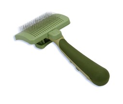 Self Cleaning Slicker for Dog - S - Touch of a button Excellent grooming results image 2