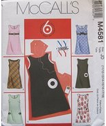 MCCALLS PATTERN M4581 JUNIOR'S LINED JUMPERS SIZE JD 11/12-13/14-15/16-1... - $12.74