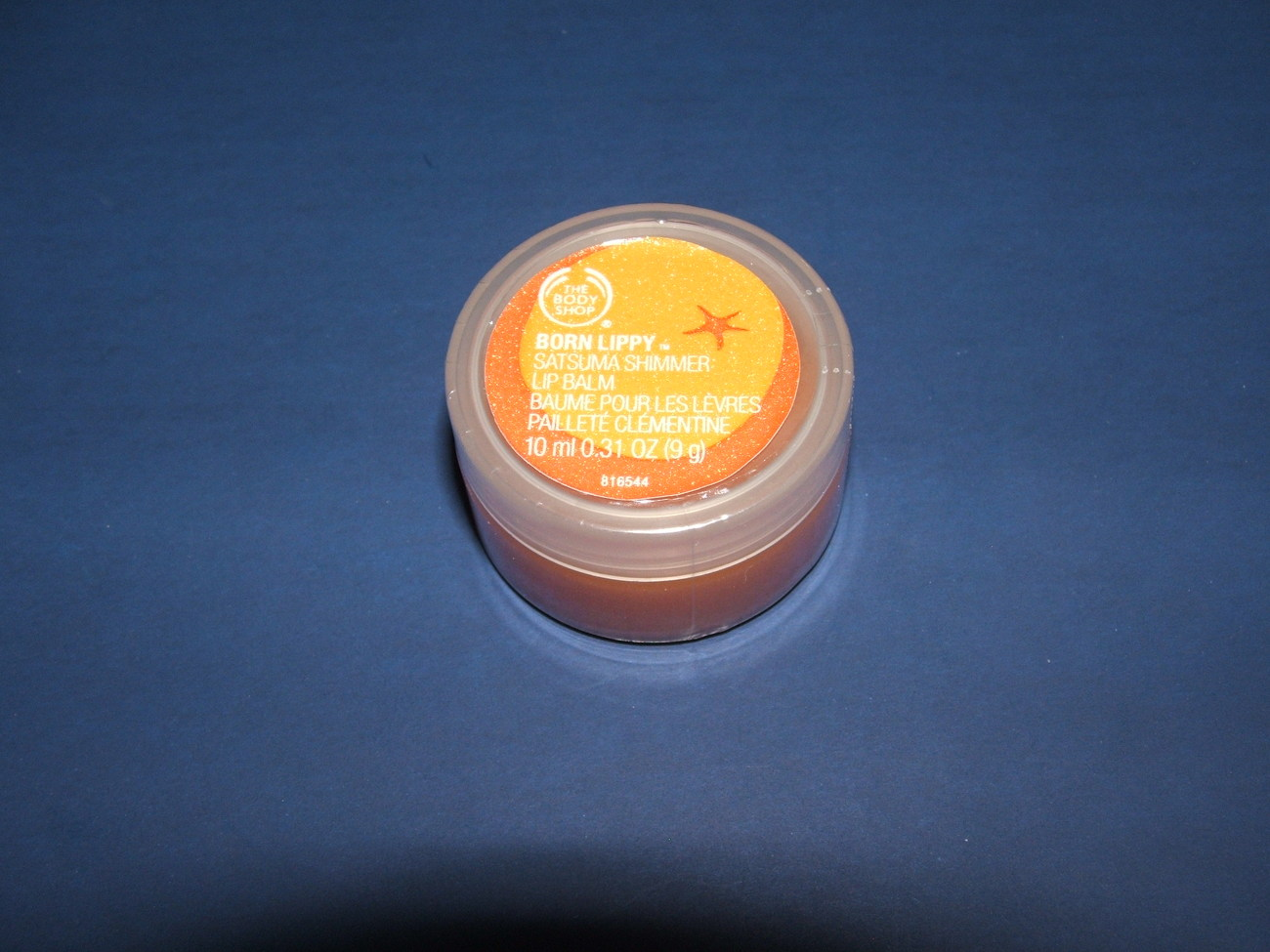 The Body Shop Satsuma Shimmer Lip Balm  .31oz Bonanza