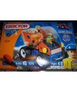Erector Dump Truck NEW Builds 4 Toys #4100 2 Figures HTF  - $25.00