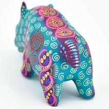 Handmade Alebrijes Oaxacan Wood Carved Painted Folk Art Rhino Rhinoceros Figure image 3