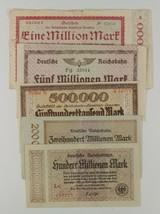 1923 Germany 5-Notes Currency Set // Berlin & Dresden Regional Railroad ... - $51.48