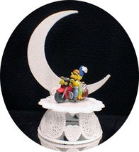 Wedding Cake Topper Motorcycle Homer & Marge The Simpsons Simpson Groom top - $34.55