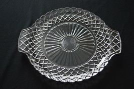 Anchor Hocking Waterford Waffle 2 Handle Cake Plate - $5.94