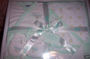 Bon Bebe 5 Piece Bath Gift Set 0-6 Mths Ducks Green NEW Bonanza