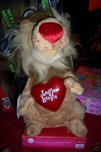 Valentine Jungle Boogie Animated Lion NEW Lighted Heart King of the Jungle