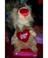 Valentine Jungle Boogie Animated Lion NEW Lighted Heart King of the Jungle - $17.00