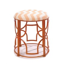 Metal Stool, Chic Chevron Round Portable Decorative Backless Outdoor Gar... - $98.39