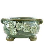 Black Temptation [9 12cm] Mini Ceramic Succulent Plant Pot Modern Cactus... - $28.80