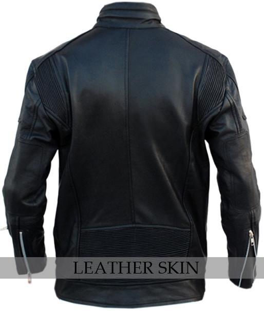 NWT Black Fashion Stylish Sexy Premium Genuine Real Pure Leather Jacket image 2