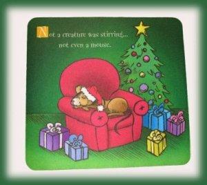 Mousepad Christmas Mousepad Mat Sleeping by Tree & Gifts Cartoon Bonanza