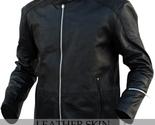 Black stylish leather jacket front thumb155 crop