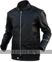 NWT Black Fashion Stylish Sexy Premium Genuine Real Pure Leather Jacket image 1
