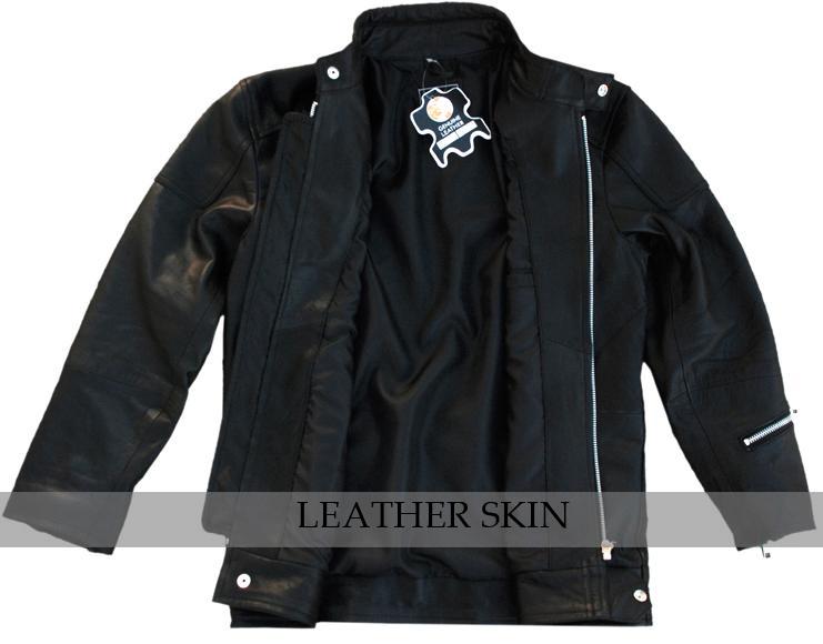 NWT Black Fashion Stylish Sexy Premium Genuine Real Pure Leather Jacket image 3