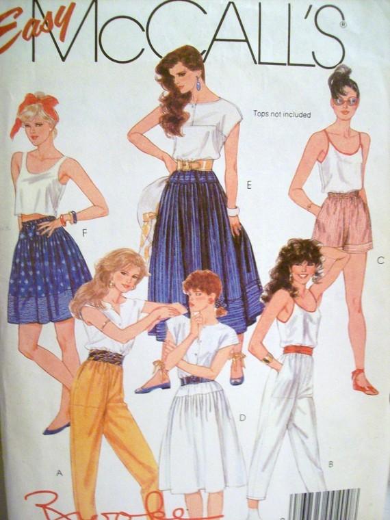 McCall's 9038 Skirts Pants Shorts Musses 10-2 1984 Bonanza