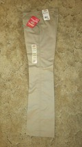 Dickies Girl's School Uniform Flare Flat Front Wide Band Khaki Size 1 Jr... - $12.82