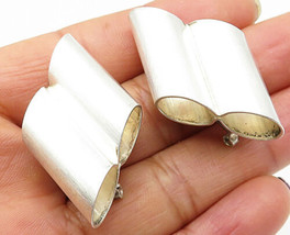 925 Sterling Silver - Vintage Binoculars Design Clip On Earrings - E4101 - $62.56