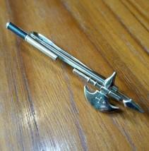 Vintage War Battle Axe Hatchet Tie Bar Clip Hickok Mfg. Co. USA Gold Ton... - $12.59