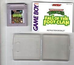 Teenage Mutant Ninja Turtles Fall of the Foot Clan Nintendo Game Boy - $9.95