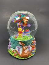 Enesco Disney Snow Globe Water Ball Winnie The Pooh Picking Apples Music... - $26.20