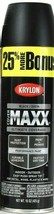 1 Cans Krylon 15 Oz Cover Maxx 89158 Satin Black Outdoor Performance Spr... - $16.99