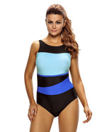 Chic Color Block Accent Hollow-out One Piece Swimsuit  - $15.92