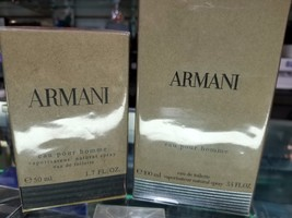 Armani Eau Pour Homme By Giorgio Armani 1.7 3.4 Oz Edt For Men New In Sealed Box - $98.99