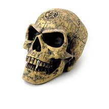 Alchemy Of England Gotik Omega Totenkopf Vampir Halloween Okkult Statue ... - $41.85