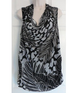 NEW Dana Buchman sleeveless Polyester Lined Drop Neck Blouse Size XL BLA... - $15.79